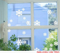 wall sticker bedroom cabinets designs - Christmas Snowflake Wall Stickers the windows paste cabinet stickers Christmas decoration stickers