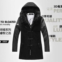 Wholesale trench coat Outlet Men s woolen coat thick and long sections aniseed Korean men Slim coat frock coat