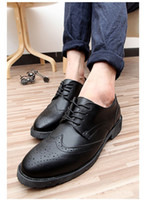 Wholesale Hot Sale Leather Casual Shoes Men Dress shoes Leather Sneaker Durable Flat Heel Slip Resistantance Three Colors Size to