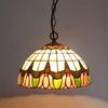 Tiffany Glass Pendant Lamp Chandelier Study Room Bedroom Light Dia 35cm H 95cm