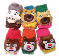 Wholesale Kids Cotton Knit Fingerless Gloves Children Fingerless Gloves Crochet Girls Winter Gloves Boys Glove