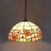 Tiffany Flowers Of Wealth Glass Pendant Lamp European Style Rural Chandelier Study Room Bedroom Light Dia 40cm H 100cm