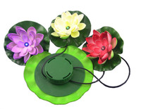Wholesale 5pcs Free ship Solar Lotus Light Decoration your garden