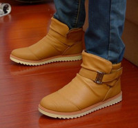 Wholesale Mens Winter Warm Casual Leather High Top Loafers Shoes Ankle Boots Sneakers S2