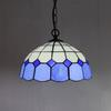 Tiffany Glass Pendant Lamp Mediterranean Style Chandelier Study Room Bedroom Light Dia 30cm H 95cm