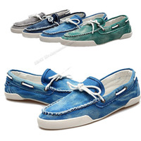 Wholesale Fashion Mens Zapato Del Boat Casual Shoes Jeans Canvas Slip On Flats Loafer ms23