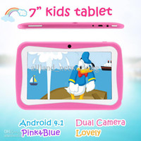 Wholesale DHL Freeshipping Lovely quot Inch Android Allwinner A13 Tablet PC for Kids Children Tablets Capacitive GB Dual Camera WIFI Tablet IRULU