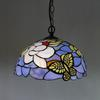 Tiffany Butterfly Glass Pendant Lamp European Style Chandelier Study Room Bedroom Light Dia 30cm H 95cm
