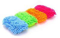 Wholesale Popular hot Ultrafine fiber car wash sponge chenille anthozoan gloves car wash gloves car wash supplies