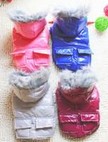 Wholesale Drop prcie Pet winter cotton padded clothes Large dog cotton coat High quality color mix size choose