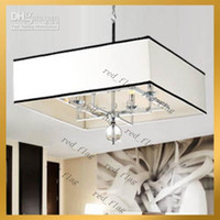Wholesale LLFA51 Contemporary white Rectangular Shade Ceiling Chandelier Pendant Lamp Lighting