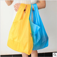 Wholesale 20pcs lotBAGGU candy colored shopping bags pouch Foldable Large Pouchfree ship