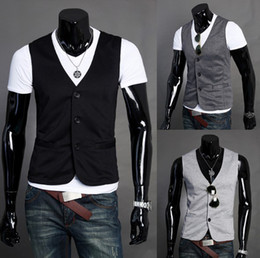 Wholesale 2013 new men s vest fashion vest for men casual vest
