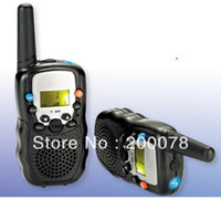 Wholesale pair walkie talkie t388 with km radio high walk talk range PMR446 radios or FRS GMRS mhz way radios giftbox packing