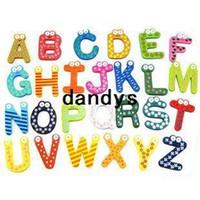 wood letters - wood letter Refrigerator Magnet set dandys