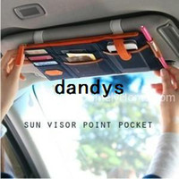 Wholesale multi purpose Sunvisor point pocket auto hanging bag CPAM dandys