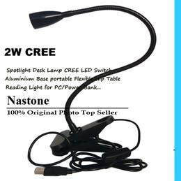LED 2W USB light Bright Clip Lamp Desk Spot Table Bed Light Flexible Desk Home office
