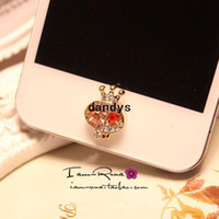 Korea button skull - diamond crown skull phone HOME button stickers dandys