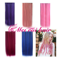 Wholesale 5 color Straight clip in hair extensions hairpiece hair pieces accessories color g Super beautiful
