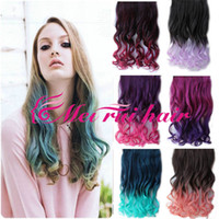Wholesale 15Color FreeShipping Retail women s fashion KANEKALON synthetic clip hair pieces long wavy curly hair extension