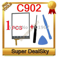Wholesale New C902 Touch Screen Glass Digitizer for C902 dual sim Cell phone Mini Order