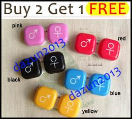 Wholesale lt lt lt Buy Get Free gt gt gt M F Symbol Contact Lens Soaking Case Love Sign Storing Holder