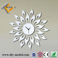 Wholesale Fashion Removable DIY Mirror Stickers Wall Decor Clocks Innovative Items for Sale