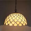Gypsophila Tiffany Glass Pendant Lamp Chandelier Study Room Bedroom Light Dia 40cm H 100cm