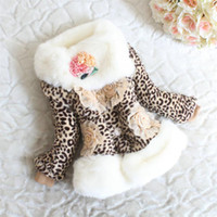 Wholesale 2013 new winter fur coat children girls fur collar scarf dimensional flowers Coats