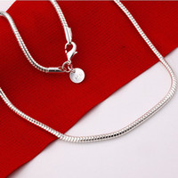 Wholesale 50pcs mm Snake Chains quot quot quot quot quot Long Silver Plated Pendant Necklace Chain