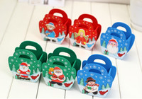 Wholesale 2014 New Arrival Christmas Gift Present Wood Funny Father Chrismas Container Xmas Brush Pot Children Gifts