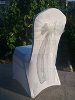Wholesale white Spandex chair covers white organza chair sashes