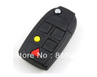 Wholesale In Stock Uncut Car Flip Folding Remote Key Shell Case Blank Cover For VOLVO C30 C70 S40 S80 XC90 Buttons HKP
