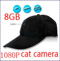 Wholesale HK POST Newest P HD Spy Camera Hat Cap with Remote Control GB Built in Hidden Spy Hat Cap Camera DVR