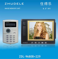 Wholesale cheap hot newLive music international quality inch color video doorbell camera password swipe ZDL B DHL free shiping
