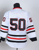 Wholesale New Season Ice Hockey Jerseys Black Hawks CrawFord White Discount Hockeys High Quality Embroidery Logo Allow Custom Hockey Wears
