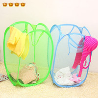 Wholesale Home clothing storage basket net folding dirty clothes basket clothes basket