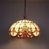Tiffany Baroque Glass Pendant Lamp European Style Bar Coffee Shop Chandelier Study Room Bedroom Light Dia 40cm H 100cm