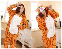 Animal adult sleepsuit - Adult Kigurumi Animal tiger sleepsuit Pajamas Costume Cosplay onesie