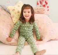 Wholesale Girls Cute Animal Printed Pajamas Kids Sets Two Piece Long Sleeve T Shirt Pants Children Sleepwear Leisure Wear Kids Underwear Child Pyjamas