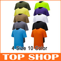 Wholesale New Sports Clothing Men quick dry Tshirt breathable Anti Pilling hygroscopic sweat releasing mesh Solid Color short sleeved colors