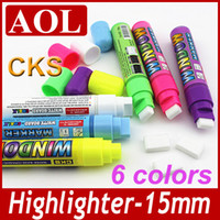 Wholesale 1 set CKS WINDOW MARKER pen Colors mm Liquid Chalk Large Capacity g LED Highlighter Fluorescent screen Write Board