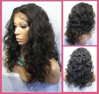 Wholesale Malaysia Curly indian remy human hair full lace wigs lace front wigs