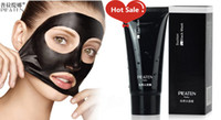 Wholesale Black Masks PILATEN Face Mask Tearing Style Deep Cleansing Black Moor Masks Oil Skin Acne Remover Strawberry Nose Black Mud Masks g piece