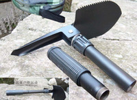 Wholesale Good quality Mini Multi function Folding Camping Shovel Survival Trowel Dibble Pick Outdoor tool