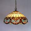 Tiffany Baroque Glass Pendant Lamp European Style Chandelier Bar Coffee Shop Light Dia 40cm H 100cm