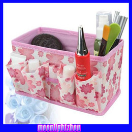 Wholesale Colorful cosmetic storage box foldable non woven storage box