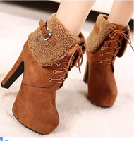 Ankle Boots Snow Boots Women Free shipping Wholesale New Style hot sale Special fashion wild winter fur flanging sexy thick Martin winter noble heels ankle boots EU35-39