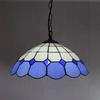 Tiffany Glass Pendant Lamp European Mediterranean Style Chandelier Bar Coffee Shop Light Dia 40cm H 100cm