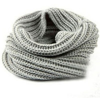 Wholesale 10 colors Women Winter Warm Infinity single Cable Knit Cowl Neck Long Scarf Shawl JY29 DHL free